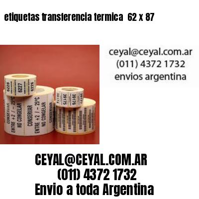 etiquetas transferencia termica  62 x 87