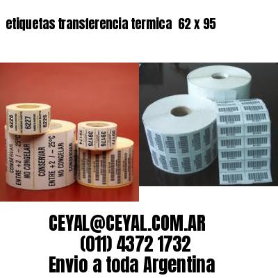 etiquetas transferencia termica  62 x 95