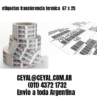 etiquetas transferencia termica  67 x 25