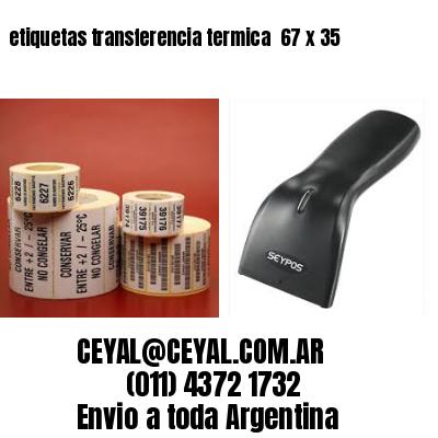 etiquetas transferencia termica  67 x 35