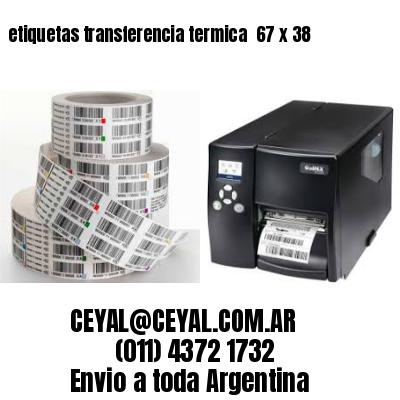 etiquetas transferencia termica  67 x 38