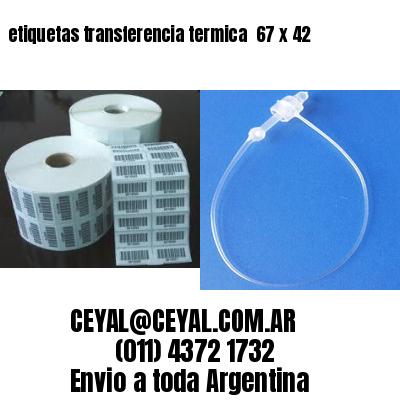 etiquetas transferencia termica  67 x 42