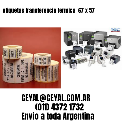 etiquetas transferencia termica  67 x 57