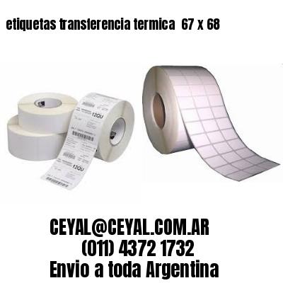 etiquetas transferencia termica  67 x 68