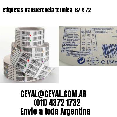 etiquetas transferencia termica  67 x 72