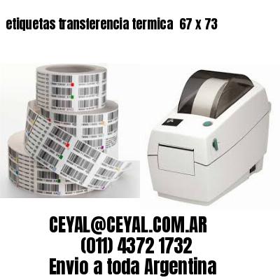 etiquetas transferencia termica  67 x 73