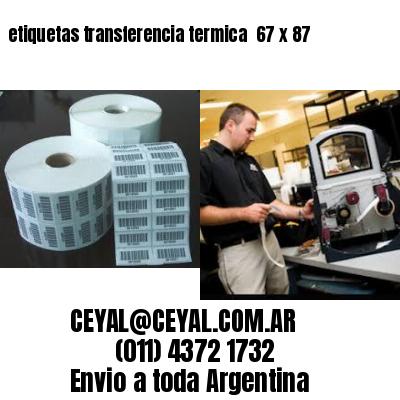 etiquetas transferencia termica  67 x 87
