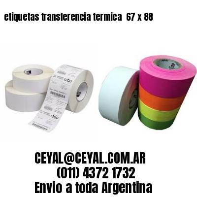 etiquetas transferencia termica  67 x 88