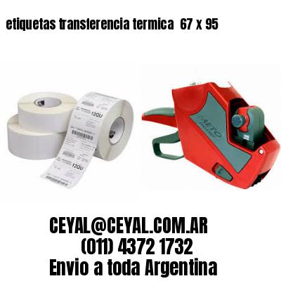 etiquetas transferencia termica  67 x 95