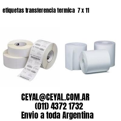 etiquetas transferencia termica  7 x 11