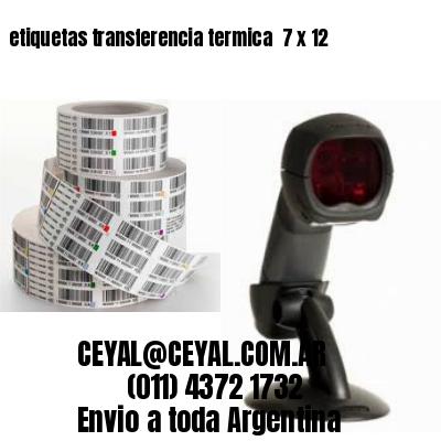 etiquetas transferencia termica  7 x 12