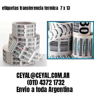 etiquetas transferencia termica  7 x 13
