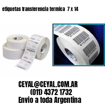 etiquetas transferencia termica  7 x 14
