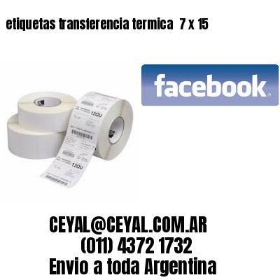 etiquetas transferencia termica  7 x 15