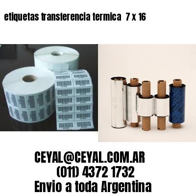 etiquetas transferencia termica  7 x 16