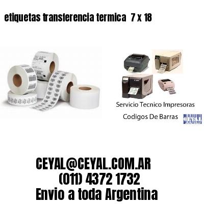 etiquetas transferencia termica  7 x 18