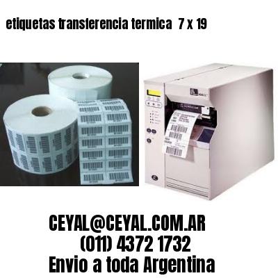 etiquetas transferencia termica  7 x 19