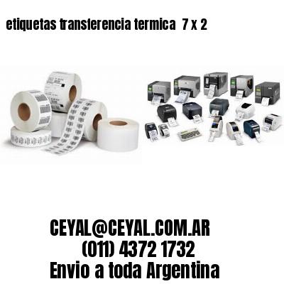 etiquetas transferencia termica  7 x 2