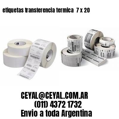 etiquetas transferencia termica  7 x 20