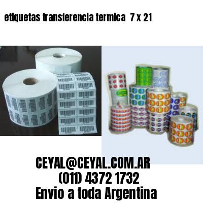 etiquetas transferencia termica  7 x 21