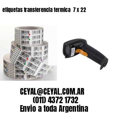 etiquetas transferencia termica  7 x 22