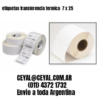 etiquetas transferencia termica  7 x 25