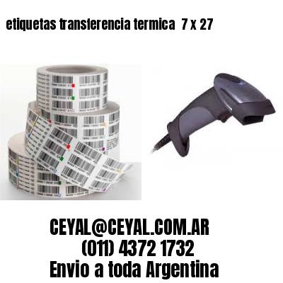 etiquetas transferencia termica  7 x 27