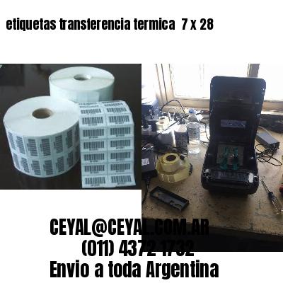 etiquetas transferencia termica  7 x 28