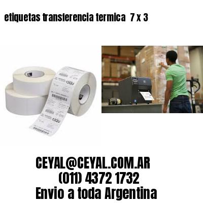 etiquetas transferencia termica  7 x 3