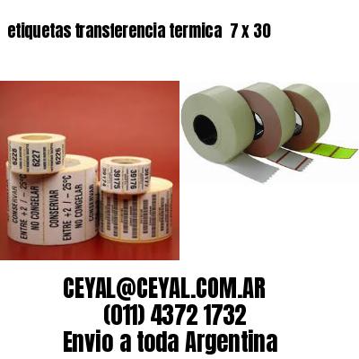 etiquetas transferencia termica  7 x 30