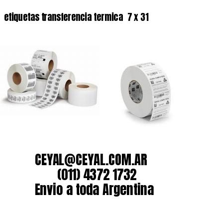 etiquetas transferencia termica  7 x 31