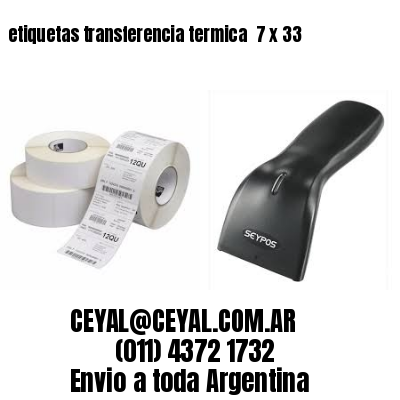 etiquetas transferencia termica  7 x 33
