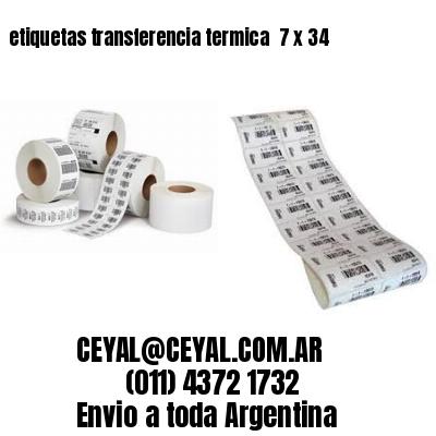 etiquetas transferencia termica  7 x 34