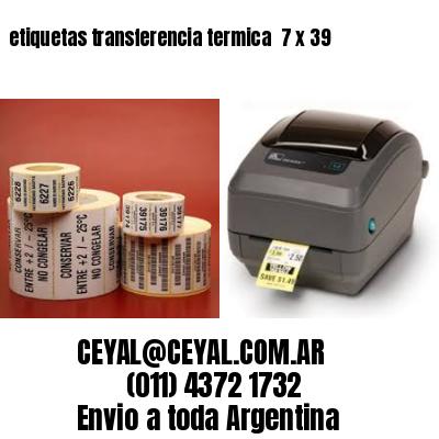 etiquetas transferencia termica  7 x 39