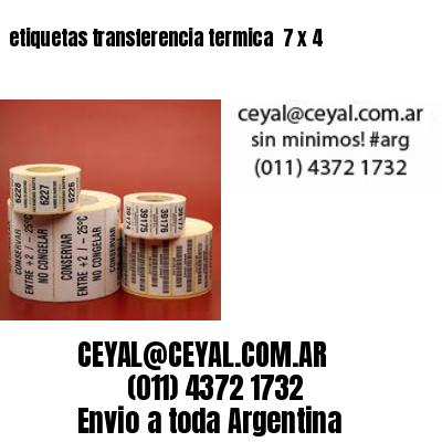 etiquetas transferencia termica  7 x 4
