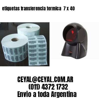etiquetas transferencia termica  7 x 40