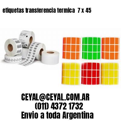 etiquetas transferencia termica  7 x 45