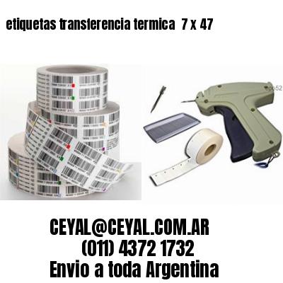 etiquetas transferencia termica  7 x 47
