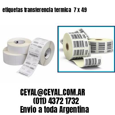 etiquetas transferencia termica  7 x 49
