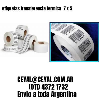etiquetas transferencia termica  7 x 5