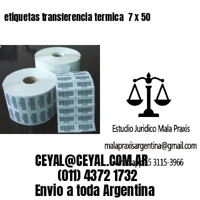 etiquetas transferencia termica  7 x 50