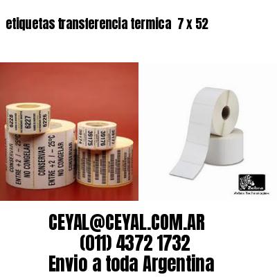etiquetas transferencia termica  7 x 52