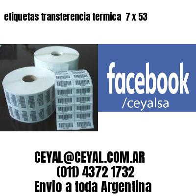 etiquetas transferencia termica  7 x 53