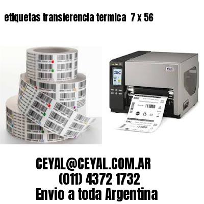 etiquetas transferencia termica  7 x 56