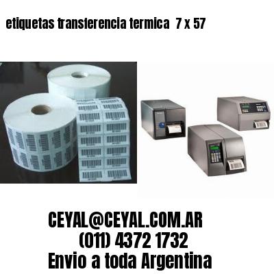 etiquetas transferencia termica  7 x 57