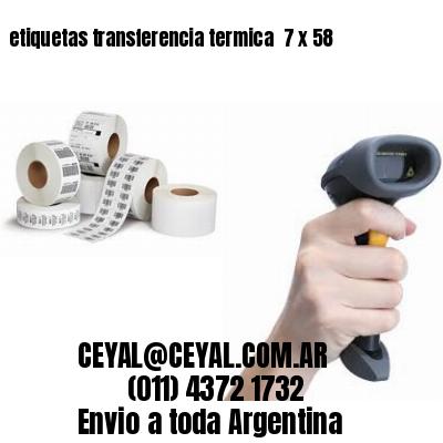 etiquetas transferencia termica  7 x 58