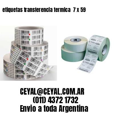 etiquetas transferencia termica  7 x 59