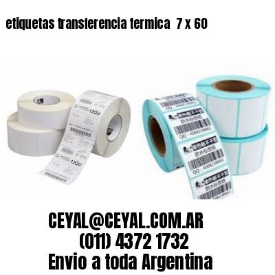 etiquetas transferencia termica  7 x 60