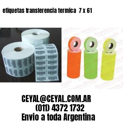 etiquetas transferencia termica  7 x 61
