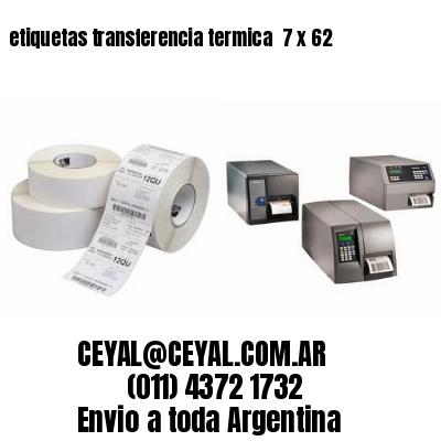 etiquetas transferencia termica  7 x 62